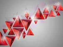 Fundo abstrato com figuras geométricas Fotos de Stock