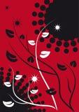 Fundo abstrato com filiais e folhas Ilustração do Vetor
