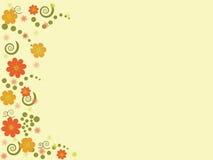 Fundo abstrato com flores Fotografia de Stock Royalty Free