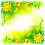 Fundo abstrato com flores ilustração royalty free
