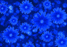 Fundo abstrato com flores azuis Fotos de Stock Royalty Free
