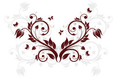Fundo abstrato com flores e borboleta Foto de Stock Royalty Free
