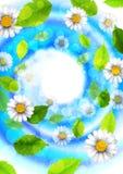Fundo abstrato com flores e folhas ilustração do vetor