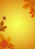 Fundo abstrato com folhas da castanha ilustração stock