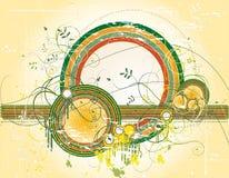 Fundo abstrato com formas da cor Ilustração do Vetor
