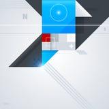 Fundo abstrato com formas geométricas lustrosas Fotografia de Stock