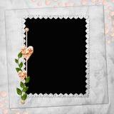 Fundo abstrato com frame e coração Fotos de Stock