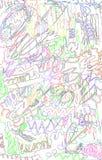 Fundo abstrato com garrancho da cor e linhas teste padrão Foto de Stock