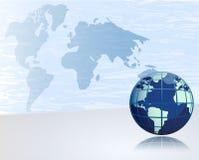 Fundo abstrato com globo Fotos de Stock