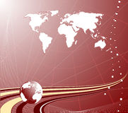 Fundo abstrato com globo Fotografia de Stock Royalty Free