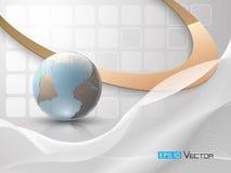 Fundo abstrato com globo Imagens de Stock Royalty Free