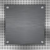Fundo abstrato com inserir escovado do metal Imagens de Stock Royalty Free