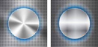 Fundo abstrato com inserir metálico do círculo ilustração stock