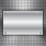 Fundo abstrato com inserir do metal ilustração do vetor