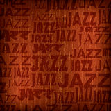 Fundo abstrato com jazz da palavra Fotografia de Stock