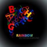 Fundo abstrato com letras coloridas do arco-íris Fotos de Stock Royalty Free