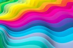 Fundo abstrato com linhas cor da onda Imagens de Stock