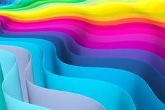 Fundo abstrato com linhas cor da onda Imagem de Stock