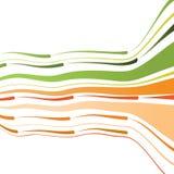 Fundo abstrato com linhas curvadas Imagem de Stock
