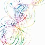 Fundo abstrato com linhas curvadas arco-íris Fotografia de Stock Royalty Free