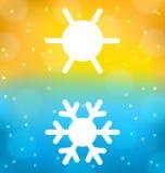 Fundo abstrato com logotipo do equilíbrio do clima do símbolo Fotografia de Stock Royalty Free