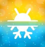 Fundo abstrato com logotipo do equilíbrio do clima do símbolo - expõe ao sol Fotos de Stock