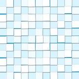 Fundo abstrato com luz cúbica - blocos do azul Fotos de Stock Royalty Free