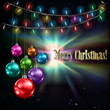 Fundo abstrato com luzes de Natal Fotografia de Stock