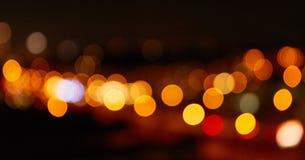 Fundo abstrato com luzes na noite fotografia de stock royalty free