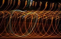 fundo abstrato com movimento da velocidade das luzes Foto de Stock Royalty Free