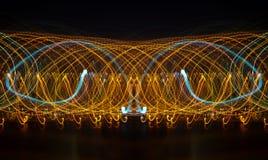 fundo abstrato com movimento da velocidade das luzes Fotografia de Stock Royalty Free