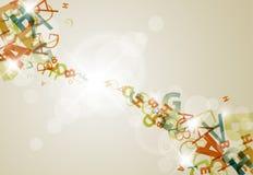 Fundo abstrato com números coloridos do arco-íris Imagem de Stock Royalty Free