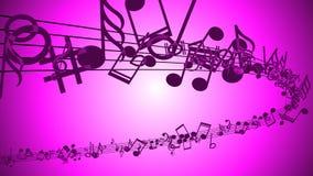 Fundo abstrato com notas coloridas da música ilustração royalty free