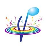 Fundo abstrato com notas vibrantes Imagem de Stock