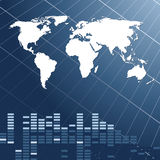 Fundo abstrato com o mapa do mundo Foto de Stock