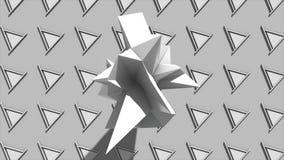 Fundo abstrato com objeto geométrico do Fractal Fotografia de Stock Royalty Free
