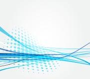 Fundo azul abstrato da luz da onda Imagem de Stock Royalty Free