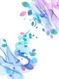 Fundo abstrato com onda e folhas Imagem de Stock