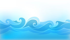 Fundo abstrato com onda estilizado Fotografia de Stock