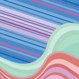 Fundo abstrato com ondas coloridos Foto de Stock Royalty Free