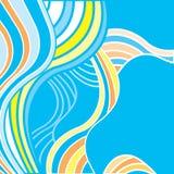Fundo abstrato com ondas coloridos Fotografia de Stock Royalty Free
