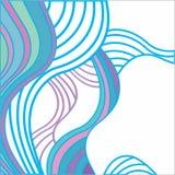 Fundo abstrato com ondas coloridos Ilustração Royalty Free