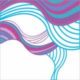 Fundo abstrato com ondas coloridos Foto de Stock