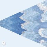 Fundo abstrato com ondas mosaic vetor 3d Imagens de Stock Royalty Free