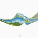 Fundo abstrato com ondas mosaic vetor 3d Imagens de Stock