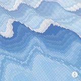 Fundo abstrato com ondas mosaic vetor 3d Foto de Stock