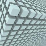 Fundo abstrato com os cubos 3d Fotografia de Stock Royalty Free