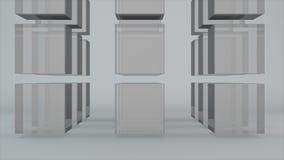 Fundo abstrato com os cubos do vidro da grade Imagem de Stock Royalty Free