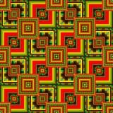 Fundo abstrato com ouro e quadrados vermelhos imagens de stock