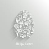 Fundo abstrato com ovo da páscoa floral ilustração royalty free